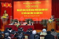 越共中央对外部召开2013年民间对外工作部署会议