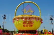 今年沙沥春节花市在同塔省举行