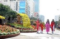 越南胡志明市阮惠花街节隆重开幕