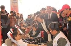 越南全国各地纷纷举行献血节