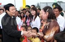 越南国家主席张晋创视察广治省