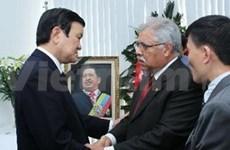 越南国家主席张晋创吊唁委内瑞纳总统查韦斯逝世