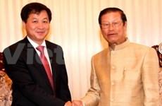 越南国家审计署高级代表团获老挝领导接见