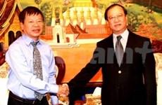 越南记者协会代表团出访老挝