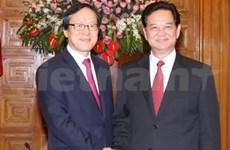 越南政府总理阮晋勇会见韩国进出口银行行长