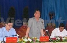 越共中央政治局委员黎鸿英同志莅临隆安省调研
