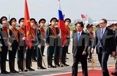 越南政府总理阮晋勇开始对俄罗斯进行正式访问