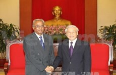 印度共产党高级代表团访问越南