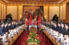 越南国家主席张晋创与中国国家主席习近平举行会谈