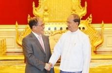 越南国会主席阮生雄与缅甸领导举行会谈和会见