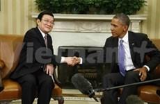 越南国家主席张晋创与美国总统奥巴马举行会谈