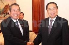 老挝国家主席朱马利会见越南最高人民法院代表团