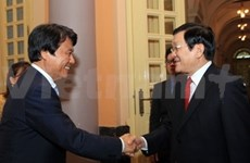 越南国家主席张晋创接见日本福冈县县长