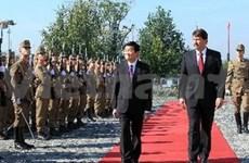 越南国家主席张晋创与匈牙利总统阿戴尔•亚诺什举行会谈