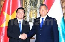 越南国家主席张晋创会见匈牙利总理和国会议长