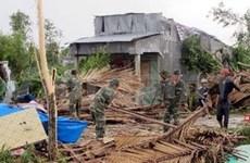 越南坚江省受8号和9号台风影响 近300间民房受损