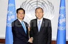 阮晋勇总理会见联合国秘书长