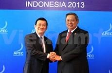 越南国家主席张晋创会见APEC成员国领导人