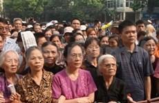 数百万越南人民悼念武元甲大将