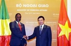 越南外交部长范平明与刚果外长举行会谈