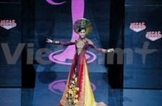"""越南传统长衫—""""奥黛""""惊艳2013年世界环球小姐大赛"""