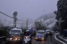 异常雨雪天气严重影响老街省沙巴县居民生活