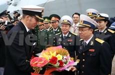 英国皇家海军驱逐舰圆满结束对岘港市的友好访问