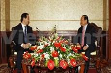 胡志明市市委书记会见中国共产党代表团