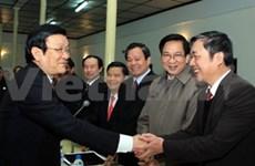 张晋创主席探访越南烈士家庭扶助协会