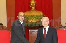 阮富仲总书记接见古巴新任驻越大使