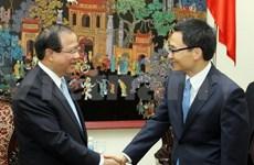 越南政府副总理武德儋会见老挝客人