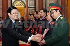 越南国家主席张晋创颁发检察员任命书