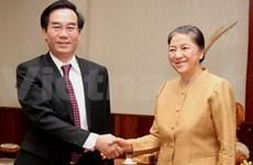 老挝领导人会见越南国家审计署代表团
