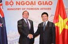 越南政府副总理兼外长范平明同新西兰外长举行会谈
