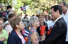 古巴新闻媒体纷纷报道越南政府总理阮晋勇到访的消息