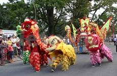 """2014年顺化文化节:""""文化遗产与文化色彩""""街头艺术节热闹非凡"""