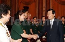 越南国家主席会见长山通道老兵代表团