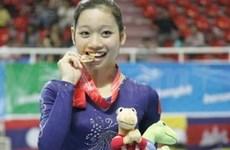 2014年体操世界杯克罗地亚站:越南女选手潘氏河青摘下金牌