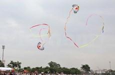 世界众多制作风筝艺人在第5届越南国际放风筝节欢聚一堂