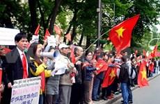 旅居乌克兰越南人举行游行活动 反对中国侵犯越南主权