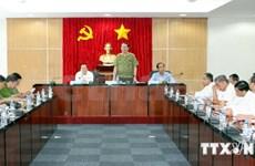 越南公安部长陈大光与中国公安部长郭声琨通电话