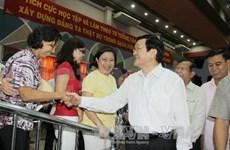 越南国家主席接触胡志明市第四郡选民