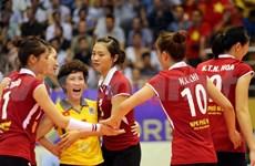 """第11次""""越南电视台杯""""国际女排公开赛: 越南队夺冠"""
