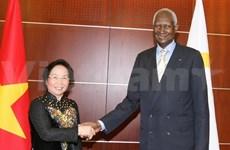 越南国家副主席阮氏缘会见法语国家国际组织秘书长