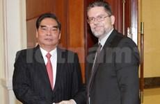 黎鸿英同志会见尼加拉瓜桑解阵高级代表团