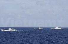 现场报道:中国船只靠近越南船只 阻碍越南船只驶向钻井平台