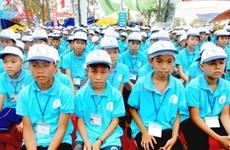 越老柬三国少年儿童交流会在越南胡志明市举行