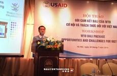 巴厘一揽子协定:越南出口企业所面临的机遇与挑战