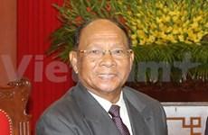 柬埔寨国会主席韩桑林开始对越南进行正式访问