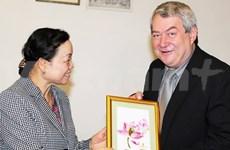 越南共产党代表团访问捷克